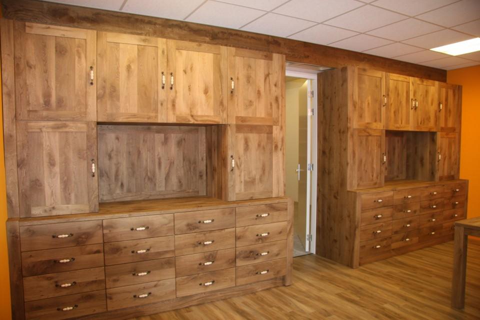 Maatwerk eiken of teak houten meubelen