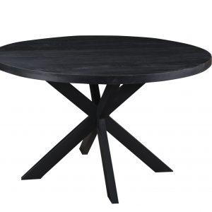 zwarte ronde industriële eettafel DT - Kala 130 cm