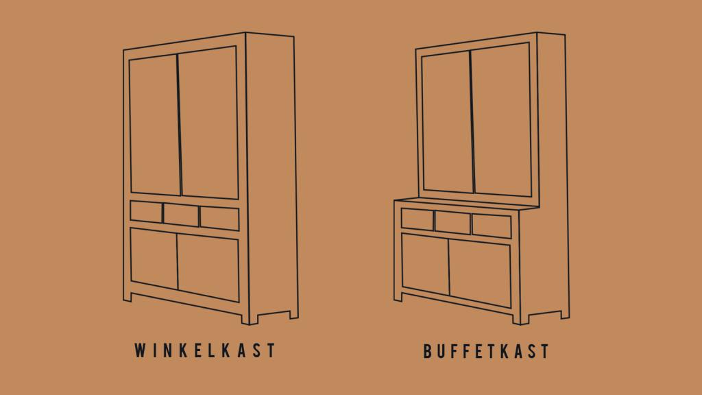 Verschil tussen een winkelkast en een buffetkast